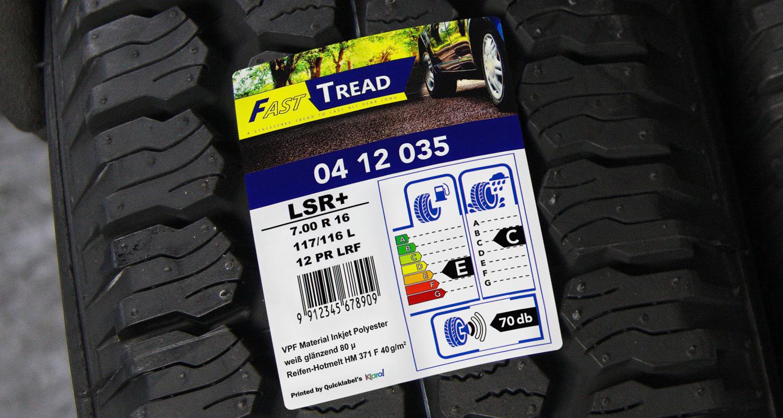 VPF Facestocks fpr tyre applications