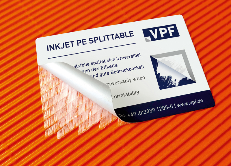 VPF Inkjet PE film Splittable
