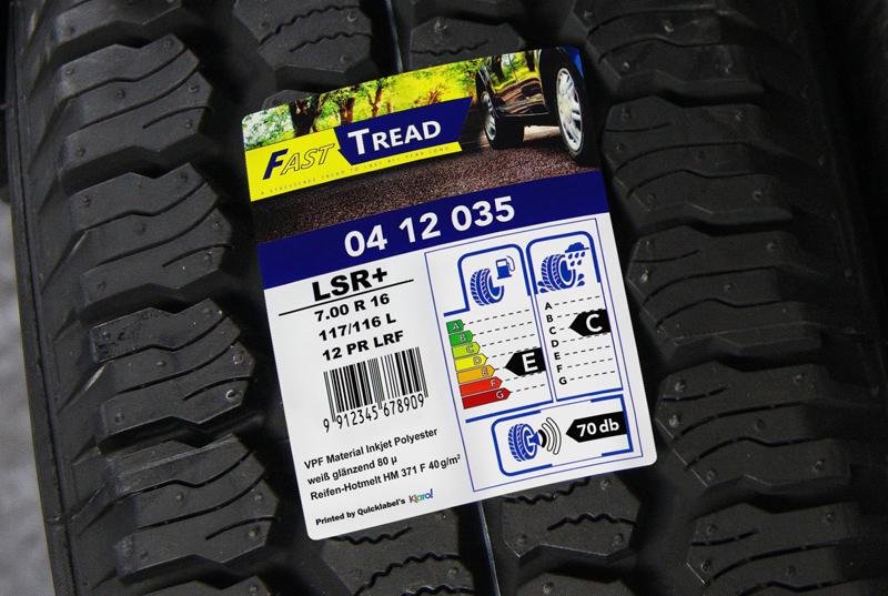 Reifen-Etiketten