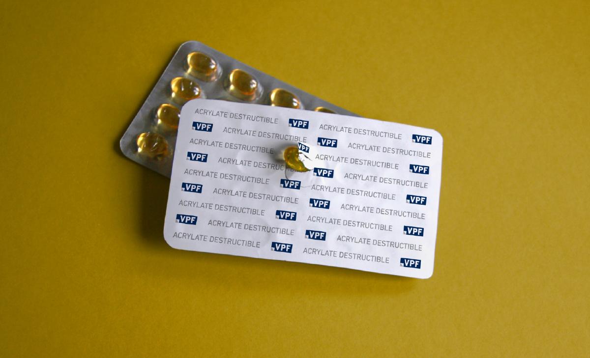 Blister PVC-Freie Acrylat-Sicherheitsfolie zerstoerbar