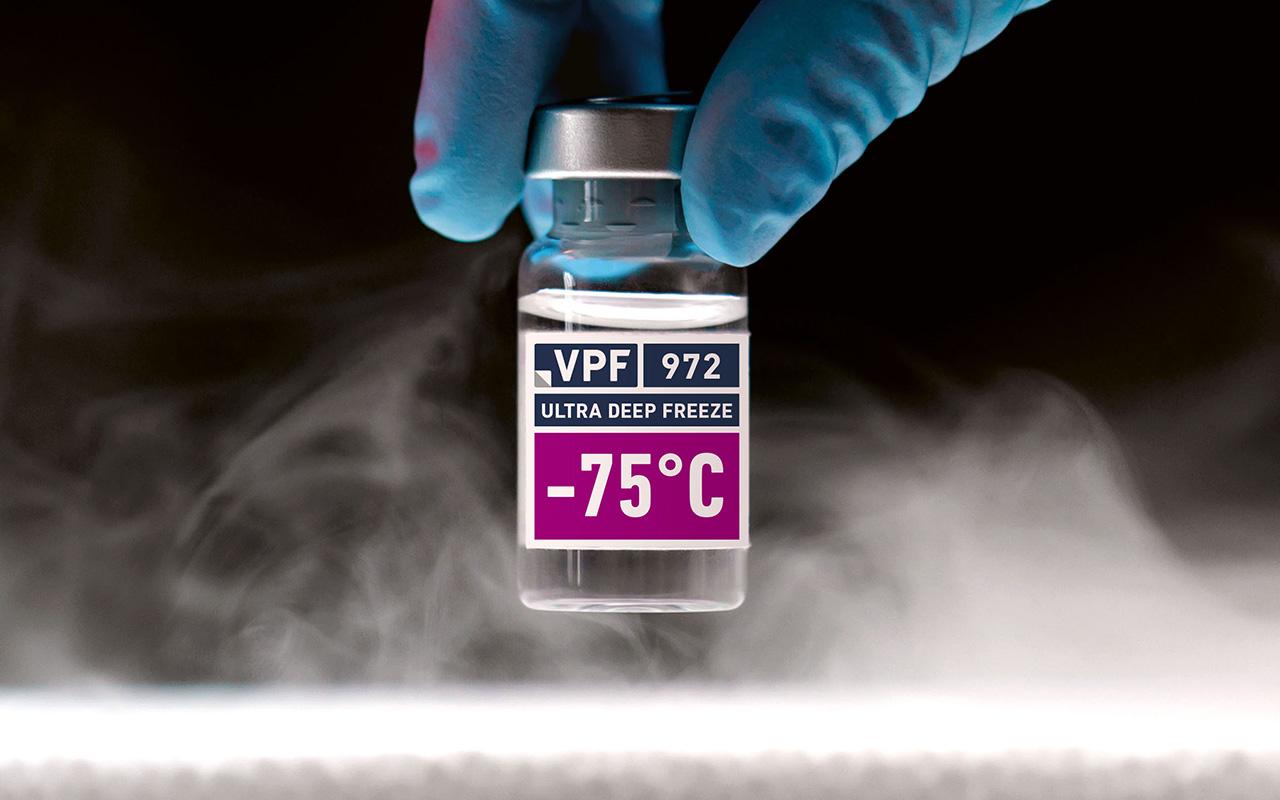 Ultra Deep Freeze Haftklebstoff 972 für tiefgekühlte Impfstoffe und andere Pharmazeutika